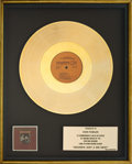 Music Memorabilia:Awards, Kendalls Heaven's Just a Sin Away Gold Record Award (RIAA)(Ovation OC1719, 1976). ...