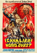 "Movie Posters:Western, She Wore a Yellow Ribbon (RKO, R-1961). Italian 4 - Foglio (55"" X 77"").. ..."