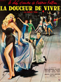 "Movie Posters:Foreign, La Dolce Vita (Cineriz, 1959). French Grande (46"" X 62"").. ..."