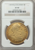 Colombia, Colombia: Carlos III gold 8 Escudos 1787 NR-JJ XF40 NGC,...