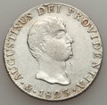 Mexico, Mexico: Augustin Iturbide 8 Reales 1823 Mo-JM AU Cleaned With SomeStress Flaws,...