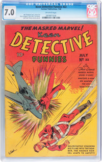 Keen Detective Funnies #22 (Centaur, 1940) CGC FN/VF 7.0 Off-white pages