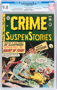 Crime SuspenStories #4 Gaines File pedigree 5/11 (EC, 1951) CGC NM/MT 9.8 Off-white to white pages