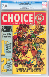 Choice Comics #3 (Great Comics Publications, 1942) CGC FN/VF 7.0 Off-white to white pages