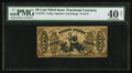 Fractional Currency:Third Issue, Fr. 1357 50¢ Third Issue Justice PMG Extremely Fine 40 Net.. ...