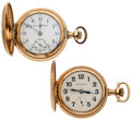 Timepieces:Pocket (post 1900), Tavannes & Illinois Hunter's Case Pocket Watches. ... (Total: 2Items)