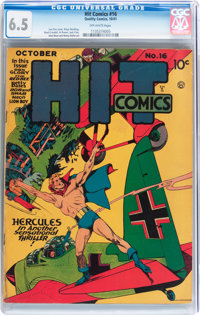 Hit Comics #16 (Quality, 1941) CGC FN+ 6.5 Off-white pages
