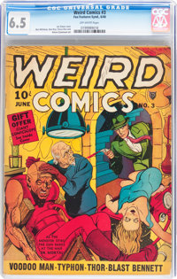 Weird Comics #3 (Fox Features Syndicate, 1940) CGC FN+ 6.5 Off-white pages