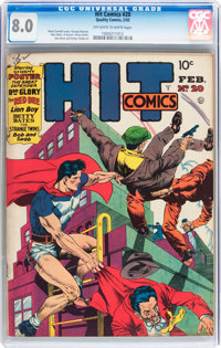 Hit Comics #20 (Quality, 1942) CGC VF 8.0 Off-white to white pages