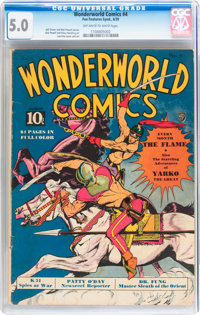 Wonderworld Comics #4 (Fox, 1939) CGC VG/FN 5.0 Off-white to white pages