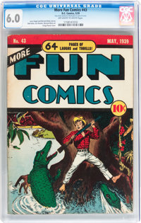 More Fun Comics #43 (DC, 1939) CGC FN 6.0 Off-white to white pages