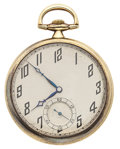 Timepieces:Pocket (post 1900), International Watch Co. 14k Gold Open Face Pocket Watch. ...