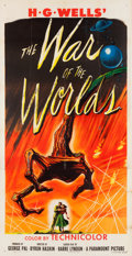 """Movie Posters:Science Fiction, The War of the Worlds (Paramount, 1953). Three Sheet (41"""" X 81"""").. ..."""