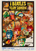 "Movie Posters:Animation, Yellow Submarine (United Artists, 1968). Italian 4 - Foglio (55"" X78"").. ..."