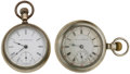 Timepieces:Pocket (post 1900), Hampden & Solar 18 Size Pocket Watches. ... (Total: 2 Items)