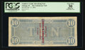 Confederate Notes:1864 Issues, Cunther's Candy Advertising Note T68 $10 1864.. ...