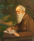Fine Art - Painting, American:Antique  (Pre 1900), JOHN HENRY NIEMEYER (German/American, 1839-1932). Portrait ofHenry Wadsworth Longfellow. Oil on canvas. 36-1/4 x 30 inc...