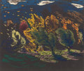 Fine Art - Work on Paper:Drawing, VAN DEARING PERRINE (American, 1869-1955). ExpressionisticLandscapes (group of 3). Pastel on paper. 11-3/4 x 14 inches... (Total: 3 Items)