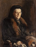 Fine Art - Painting, European:Modern  (1900 1949)  , WILLIAM JAMES (American, 1882-1961). Portrait of Mrs. WilliamJames, Senior (The Artist's Mother), circa 1924. Oil on ca...