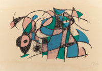 JOAN MIRÓ (Spanish, 1893-1983) Lithographe IV, 1972 Lithograph in colors 16-1/2 x 23-1/2 inches (