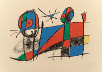 JOAN MIRÓ (Spanish, 1893-1983) Lithograph II, No. VI, 1975 Lithograph in colors 16-1/4 x 23-1/2 i
