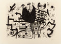 Fine Art - Work on Paper:Print, JOAN MIRÓ (Spanish, 1893-1983). Homenatge a Joan Prats,circa 1971. Lithograph. 26-1/4 x 36-1/4 inches (66.7 x 92.1 cm) ...