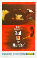 "Movie Posters:Hitchcock, Dial M for Murder (Warner Brothers, 1954). One Sheet (26.75"" X 41.5"").. ..."