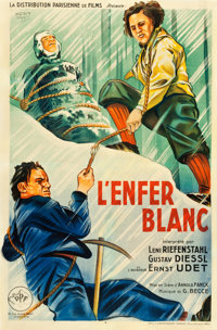 """The White Hell of Pitz Palu (DPF, 1929). French Affiche (31"""" X 47"""")"""