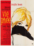"Movie Posters:Foreign, A Very Private Affair (Pathé, 1962). French Grande (47"" X 63""). Also known as Vie Privée.. ..."