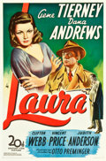 "Movie Posters:Film Noir, Laura (20th Century Fox, 1944). One Sheet (27.25"" X 41"").. ..."