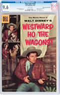 Silver Age (1956-1969):Miscellaneous, Four Color #738 Westward Ho the Wagons! - Mile High pedigree (Dell,1956) CGC NM+ 9.6 White pages....