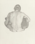 Works on Paper, JAMES CHILDS (American, b. 1947). Nude with Guitar, 1976-80. Pencil on paper. 12 x 9-1/2 inches (30.5 x 24.1 cm) (sight)...