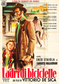 "Movie Posters:Foreign, The Bicycle Thief (ENIC, R-1952). Italian 4 - Foglio (55"" X 78"")....."