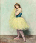 Fine Art - Painting, American:Contemporary   (1950 to present)  , HELEN L. NAY (American, 20th Century). The Ballet Girl. Oilon canvas. 19-1/4 x 16 inches (48.9 x 40.6 cm). Signed lower...