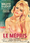 "Movie Posters:Foreign, Le Mepris (Cocinor, 1963). French Grande (47"" X 63"").. ..."