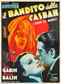 "Movie Posters:Drama, Pepe le Moko (Colosseum, 1946). First Post-War Release Italian 4 -Foglio (54.25"" X 75.5"").. ..."