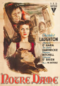 "Movie Posters:Horror, The Hunchback of Notre Dame (RKO, 1948). First Post War ReleaseItalian 4 - Foglio (54"" X 78"").. ..."