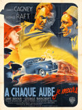 "Movie Posters:Crime, Each Dawn I Die (Warner Brothers, 1939). French Grande (47"" X63"").. ..."