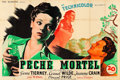 "Movie Posters:Film Noir, Leave Her to Heaven (20th Century Fox, 1947). French Double Grande(63"" X 94"").. ..."