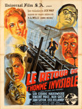 "Movie Posters:Horror, The Invisible Man Returns (Universal, 1947). First Post-War ReleaseFrench Grande (47.5"" X 62.5"").. ..."