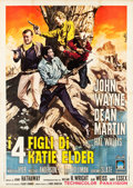 "Movie Posters:Western, The Sons of Katie Elder (Paramount, 1965). Italian 4 - Foglio (55"" X 78""). Western.. ..."