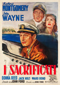 "Movie Posters:War, They Were Expendable (MGM, 1949). First Post-War Release Italian 4- Foglio (55"" X 77.5"").. ..."