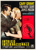 "Movie Posters:Hitchcock, North by Northwest (MGM, 1959). Italian 4 - Foglio (54.5"" X76.5"").. ..."