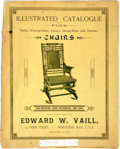 Books:Americana & American History, Edward W. Vail. Illustrated Catalogue of Fine Chairs.Worchester, 1887. Folio. Publishers binding in wrappers. Cente...