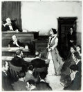 Books:Prints & Leaves, [Susan B. Anthony]. Oversize Photographic Reproduction of Susan B. Anthony Addressing the Judge at Trial. Measures 11 x 14. ...