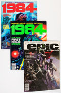Magazines:Science-Fiction, Marvel Sci-Fi Magazine Group (Marvel, 1980s) Condition: AverageVF/NM.... (Total: 9 Comic Books)