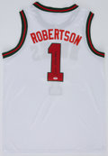 Basketball Collectibles:Uniforms, Oscar Robertson Signed Milwaukee Bucks Jersey....