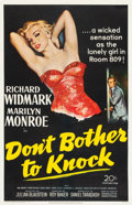 "Movie Posters:Thriller, Don't Bother to Knock (20th Century Fox, 1952). One Sheet (27"" X41.25"").. ..."