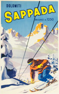 "Movie Posters:Miscellaneous, Italy Travel Poster (c.1930s). Poster (24"" X 39"") ""SappadaDolomiti."". ..."