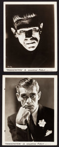 "Movie Posters:Horror, Frankenstein (Universal, 1931). Portrait Photos (2) (8"" X 10"")....."